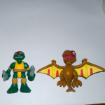 Half Shell Heroes Teenage mutant ninja turtles Raph and Pteranodon